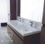 Mano Wash Cabinet Double Sink in Bathromm Corner (SN1538-120Double)