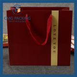 Bolsa de papel inferior del precio de fábrica con la maneta (DM-GPBB-134)