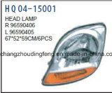 Chevrolet Matiz 2005년을%s 차 Accessories Auto Head Lamp Fitd. OEM 96590406/96590405
