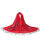 女性のジャカードペーズリーの綿のShwalのスカーフ