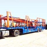 Auto Twee van het vervoer de Enige Semi Aanhangwagen van de Auto-carrier van de Assen van het Wiel