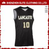 2016 Dernière conception réversible maillot de basket-ball avec logo et le nombre