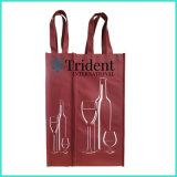 OEMのカスタムロゴの印刷昇進のための再生利用できるPPのNon-Wovenの非編まれたFoldableショッピング戦闘状況表示板のワインのハンドバッグ袋