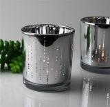 Sostenedores de vela de cristal de la taza del arte de cristal caliente de la venta para la decoración casera