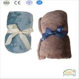 Coperta pura sveglia eccellente 110*140cm del panno morbido della flanella di colore dell'azzurro di bambino