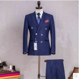 Mão do terno de lãs do italiano 100% - homens feitos terno do costume de Mtm do terno do azul de marinha