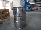 Un barilotto d'acciaio senza coperchio da 55 galloni