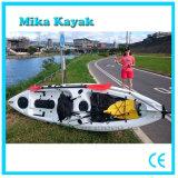 Singola canoa della plastica dei pescherecci del kajak della barca del pedale dell'oceano