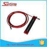 Bonne corde de saut de câble de vitesse de réputation avec le traitement en aluminium, corde de saut, corde de saut à grande vitesse réglable, corde de saut de Crossfit