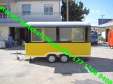 Automobile mobile dello spuntino del hot dog del camion dell'alimento del carrello mobile dell'alimento della via