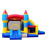 子供は城の膨脹可能なMoonwalks Chb737を跳んでいる