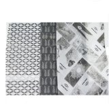 Schwarzes Drucken-Gewebe-Verpackungs-Papier für Schuhe/Kleid-/Geschenk-Verpacken