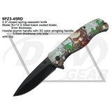 """4,5"""" закрыты пружины при содействии зомби Hunter нож с помощью 3D-печати сернокислый алюминий ручка: 5pz3-45rd"""