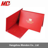 PU Red/Maroon Custom Graduation Diploma Cover Book Style