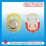 Emblema de crachá de esmalte de venda direta de fábrica com ímã