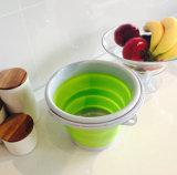 Highquality portatile 5L o 10L Food Grade pp Material Strong variopinto Plastic Folding Bucket