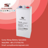Bateria tubular solar acidificada ao chumbo selada de Opzv do gel das baterias 2volt