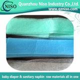 Super Soft Blue / Green Adler Non-tissé pour couche intermédiaire absorbant avec SGS (AN-049)