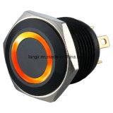 16mmの電気黒いリングの反破壊者の押しボタンスイッチ(Ls16)