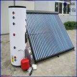分けられた加圧実行中のヒートパイプの太陽給湯装置