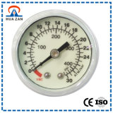 "1.5 ""Zentralmontage, Weiß lackierter Stahl Fall, PC-Objektiv, 30 kg, PT1 / 8, Medizinische Manometer"