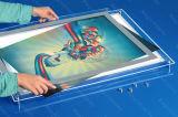 水晶ライトボックスの透過表示の広告