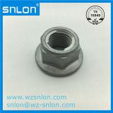 DIN6927는 전부 플랜지 금속 삽입을%s 가진 육 견과를 금속을 붙인다
