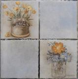 Mattonelle lucide eccellenti dorate della parete del K/mattonelle di ceramica mattonelle 30X30 della porcellana