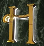 L'acciaio esterno di affari della costruzione ha fabbricato le lettere di titanio d'ottone incise placcate della Manica