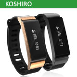Reloj de acero inoxidable pulsera inteligente Bluetooth