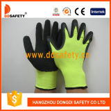 Законченный Crinkle черного латекса Ddsafety 2017 Coated работающ перчатка