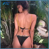 Пляж блестящих женщин купальный костюм секси Высокая посадка купальник бикини