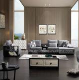 Moderno hotel de l Shape sofá de tecido com armário de lado