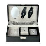 Черная Stackable коробка ювелирных изделий с съемным случаем перемещения