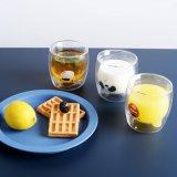 Vetro Tempered della spremuta della tazza di frutta del latte di vetro di vetro doppio del succo