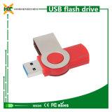 Movimentação impermeável do flash do USB do giro da movimentação da pena