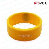 O Plástico Impresso Carda o Tag sem Contato da Faixa de Relógio do Wristband do Silicone de RFID
