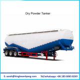 Della polvere del cemento asciutto alla rinfusa dell'autocisterna rimorchio materiale del camion semi