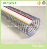 Mangueira hidráulica reforçada plástica da tubulação de descarga industrial da água do fio de aço do PVC