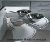 Hohe Glanz-europäische Art-moderner Küche-Schrank
