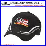 Выдвиженческая бейсбольная кепка хлопка логоса вышивки (EP-S3017)