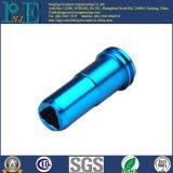 Kundenspezifischer Stahl CNC, der blaue Zink-Beschichtung-Teile maschinell bearbeitet