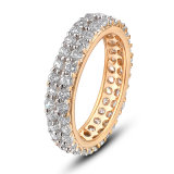 De in het groot Ring van de Vinger van de Juwelen van de Manier van de Stenen van Zircon van het Gouden Plateren van de Legering