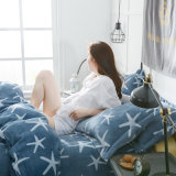 Warmer weicher Plüsch-seidige Qualitäts-Flanell-Blatt-Bettwäsche