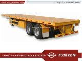 Hot Sale 40FT Semi-Trailer lit plat/ camion lourd pour le transport de la machine à usage intensif.