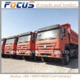 중국 HOWO 덤프 트럭 팁 주는 사람 6X4 10 바퀴 Sino 트럭