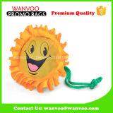 Opnieuw te gebruiken het Winkelen van de Polyester van Emoji van de Zonnebloem van de Manier Vouwbare Zak