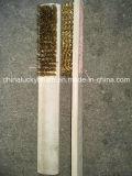 木のハンドルの真鍮のワイヤーブラシは手で作る(YY-597)