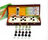 Bendable 11-proyector de vibración anión infrarrojo de la terapia de salud de mano Jade masajeador