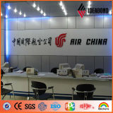 Ideabond que hace publicidad del panel de revestimiento de aluminio para las carteleras grandes hechas en China de las empresas de la construcción